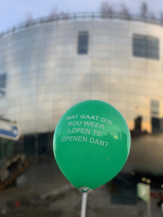 Rotterdam Ballon Opgeblazen