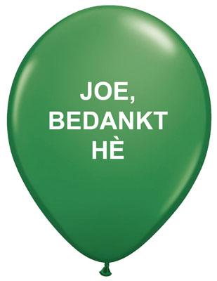 Joe, bedankt he