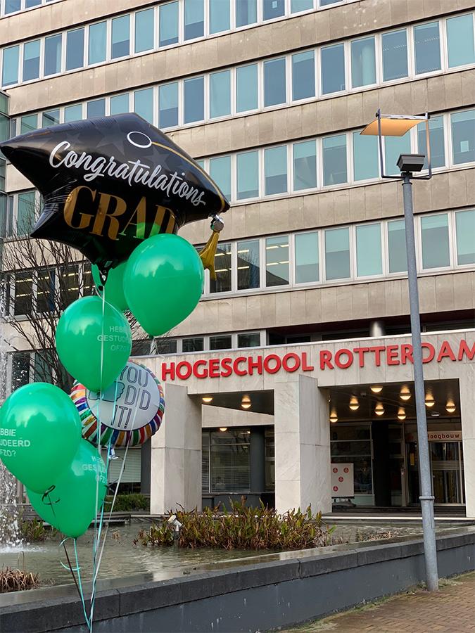 Rotterdam Ballon verwerkt in Ballonnenboeket