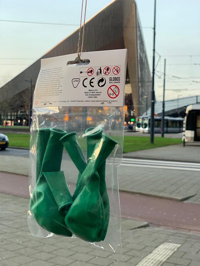 Rotterdam Ballon Verpakking Achterzijde